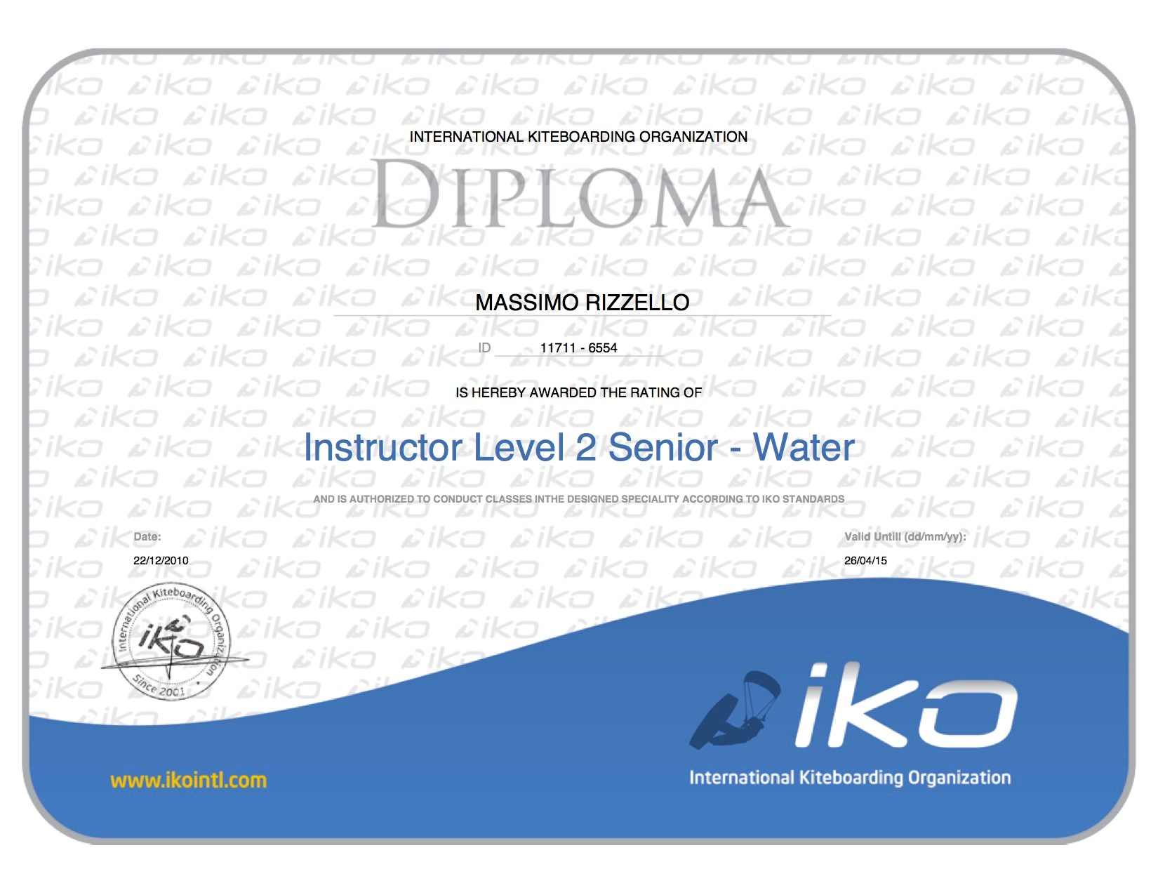 Instructor Level Two Senior - Water